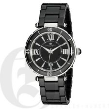 Charles Hubert Mens Black Ceramic Watch Quartz Date 3879-B