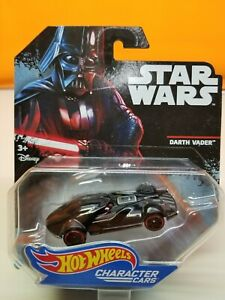 2014 Hot Wheels Star Wars Die Cast Character Cars Darth Vader DXP38 Collectible