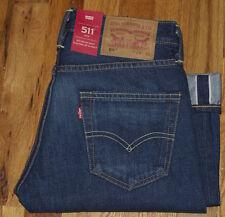 NWT Levi's 511 Slim MADE IN USA White Oak Cone SELVEDGE Denim Jeans 29X30 $158