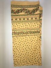 """Remnant Yellow corn and Green Olive & Leaf Print Cotton Fabric L104"""" W62"""""""