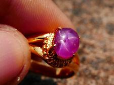 100% Natural Unheated Untreated Pink Red Star Ruby Mogok Burma Carbochon Ring 13