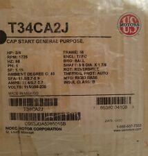 US Motors (Nidec) T34CA2J Cap Start G.Purpose, 3/4 HP, 1725 RPM, 115, 208-230V