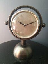 "Clock Metal Battery Operated Desk Mantle & Shelf Clock  9"" Tall- Home Decor"