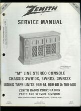 Factory Zenith M Line 3WR10X 3WR11X 3WR12X Stereo Radio Console Service Manual