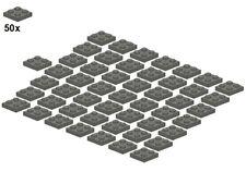 Used LEGO® - Plates - Darkbluishgray - 3022-09 - 2x2 (50Stk) - Platte - Dunkelgr