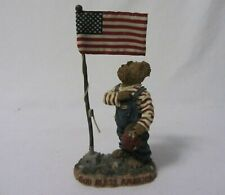 The Boyd'S Bears & Hare'S Sammy Bearmerican I Pledge Allegiance Figurine Mib