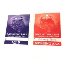 Authentic OZZFEST Donington 02 Backstage Pass Heavy Metal Rock Music Memorabilia