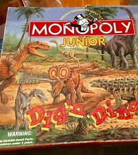 Monopoly Junior Jr Dig n Dinos Dinosaur Educational Board Game 100% COMPLETE