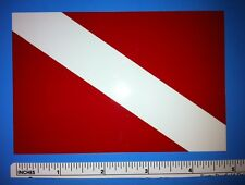 """Scuba Diver Down Flag Sticker Vinyl Decal – High Quality (5""""x3.25"""") -Made in USA"""