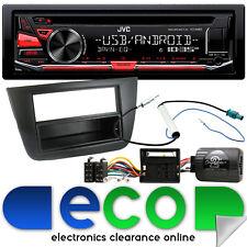 SEAT Altea RHD 2004-15 JVC CD MP3 Usb Aux Ipod auto estéreo kit de interfaz de volante
