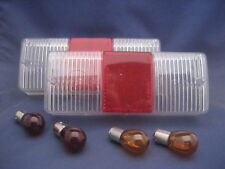 GENUINE CLEAR Westfield/Caterham Rear Light/lamp LENS Kit with Amber & Red Bulbs
