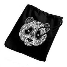 Sugar Skull Panda New Small Lightweight Drawstring Tote Trick Or Treat Gift Bags