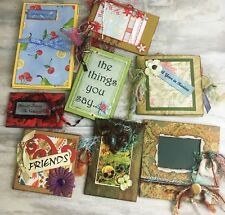 Lot of 8 Mixed Stampin Up Hand Made Cards Journals Albums Bookmarks Etc.
