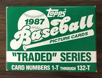 1987 TOPPS TRADED Baseball Factory UNOPENED Set out of case MADDUX RC E5020219
