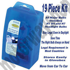 Universal Car Bulb Kit Set H1 H4 H7 19 Piece Bulbs In Case RING BU027