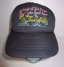 Work Is For People Who Don't Know How To Fish - Funny - Neon Trucker Hat