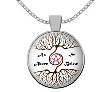 Esoteric necklace - As Above so Below pagan wicca -occult gift magic accessories