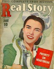 1943 Real Story Magazine September: Priority on Heartbreak/Marry Me Tonight