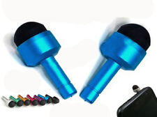 Earphone Jack Stylus Cap Dust Cover Pen For iPhone 4 4G 4S 3G 3Gs Metalic Blue