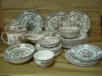 JOHNSON BROTHERS INDIAN TREE DINNER SERVICE - PLEASE SELECT FROM DROP DOWN MENU