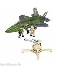 Mega Bloks Adventure Force Military Jet Fighter assemble kit no paint ages 5+
