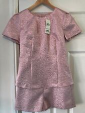 BNWT Ladies Miss Selfridge Pink Playsuit UK Size 10