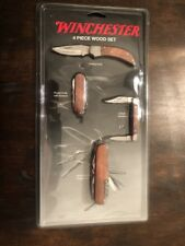 Winchester Knives | 4 piece Wood Set | NEVER OPENED!