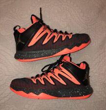san francisco 35bf8 ca422 Nike Air Jordan CP3 IX Chris Paul Hyper Orange Gold Black 810868-802 Size 8