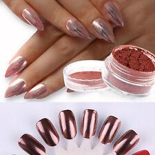 Rose Gold Nail Powder Nails Glitter Chrome Powder Nail Art Decoration HOT