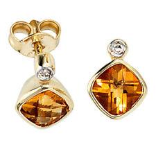 Echtschmuck im Ohrstecker-Stil aus Gelbgold mit Diamanten