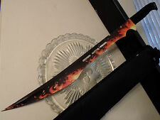 "Secret Agent Inferno Combat Sword Machete Knife Full Tang Shoulder Sheath 27"" OA"