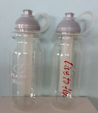 "2 X NEW Water bottle, gel cooler insert, 900ml, by Flexifoil. ""Live to Fly"" logo"