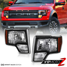 2009-2014 Ford F150 Pick Up Truck OE Style Black Headlight Lamps [ LEFT+RIGHT ]