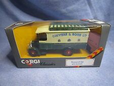 ZA195 CORGI CLASSICS THORNYCROFT VAN WITH ROOFRACK THE ORCHARD FACTORY C859/2 NB
