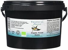 Tropical Forest Organic Clear Wild Bees Raw Honey 3.18 Kg Healthy Living New Tub
