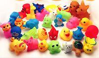 13pcs mezcla de animales de caucho blando flotador apretón bebé baño juguete KY