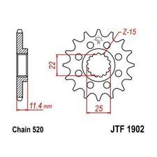 (265613) Piñon JT KTM LC4 Adventure R 640 AÑO 99-07 (16 dientes)