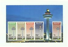 SINGAPORE 1981 CHANGI AIRPORT SOUVENIR SHEET OF 5 STAMPS SC#386a IN MINT UNUSED