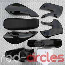 BLACK KLX STYLE PIT BIKE PLASTICS & SEAT KIT 140cc 150cc 160cc PITBIKE