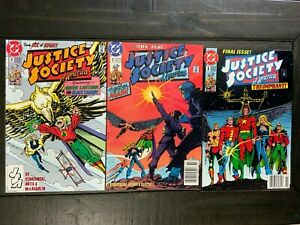 Justice Society of America #6, #7, #8 lot of 3 Copper Age comics!