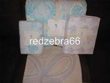 Pottery Barn Kids Aqua Blue Elyse Twin Quilt Shams Elephant Sheet Set 6-pc NEW