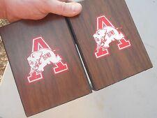 * Nice Rare Vintage University of Alabama Crimson Tide Football Wood Bookends *