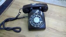 Vintage ITT Dark Brown Rotary Phone - tested and working
