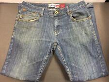 Men's Quicksilver Jeans Straight Fit 32 Waist Cotton Blend Blue Jeans