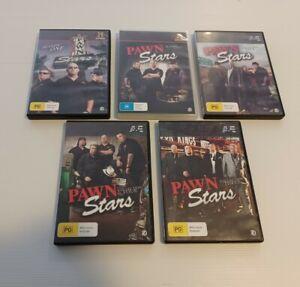 Pawn Stars Seasons 1 2 3 4 5 DVDs  Reality TV Bulk lot region 4