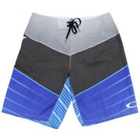 Oakley Blink Mens Shorts Size 32 M Blackout Blue Boardies Surf Swim Boardshorts