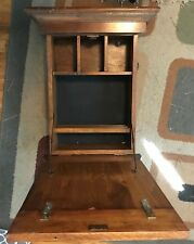 Wall Mounted Desk With Compartments Mid Century Vintage rare