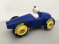 Ancien jouet voiture en bois bidendum Michelin Vilac vintage publicitaire