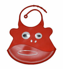 Red Cow Bib Waterproof Baby Toddler Dribble Bibs Soft & Foldable Silicone