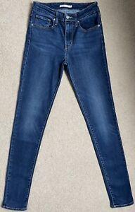 Levis 721 High Rise Skinny Stretch Women's Jeans W27 L32 (D591)